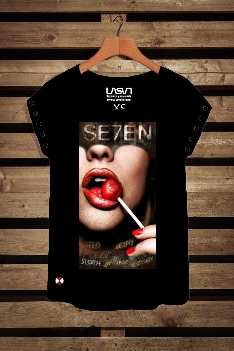 Camiseta de mujer SEVEN GULA Negra