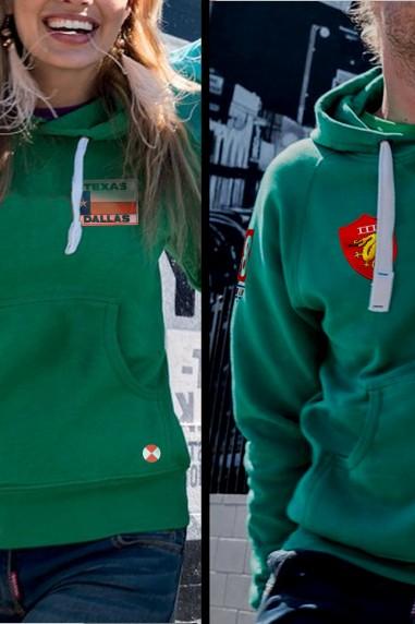 Sudadera  mujer capucha Topgun verde
