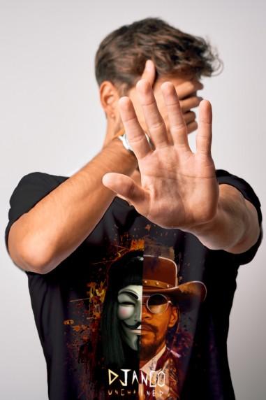 Camiseta de hombre V DJANGO negra