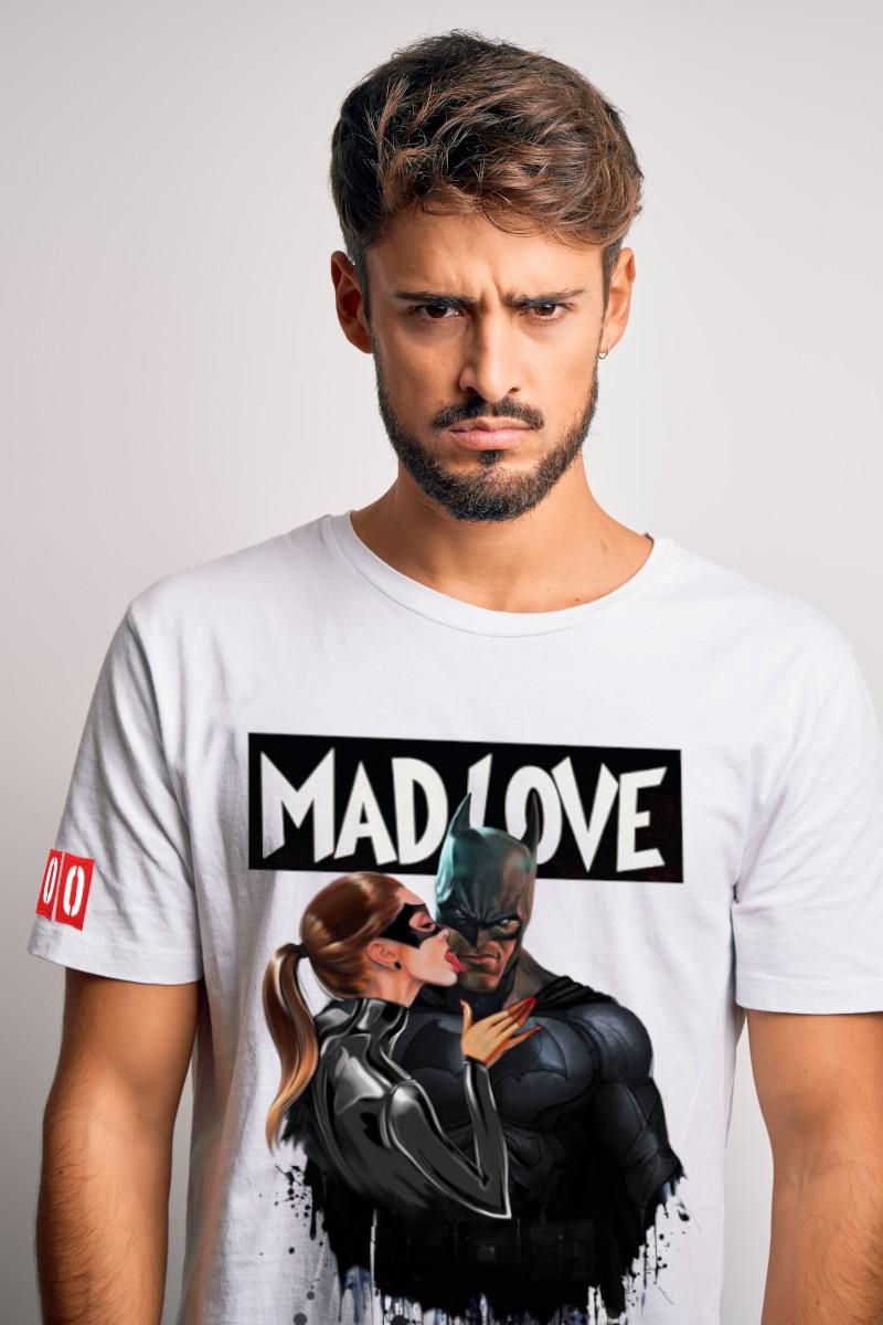 Camiseta de hombre MAD LOVE blanca