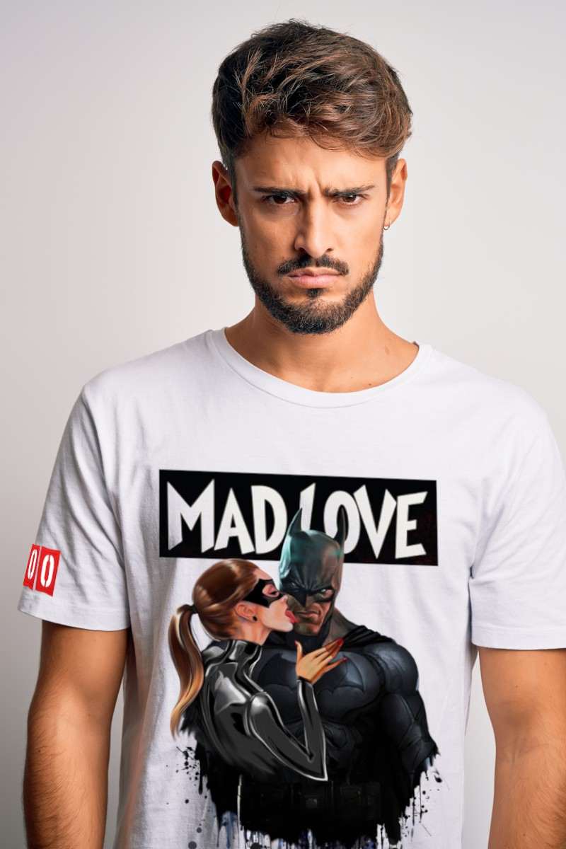 Camiseta de hombre MADLOVE blanca