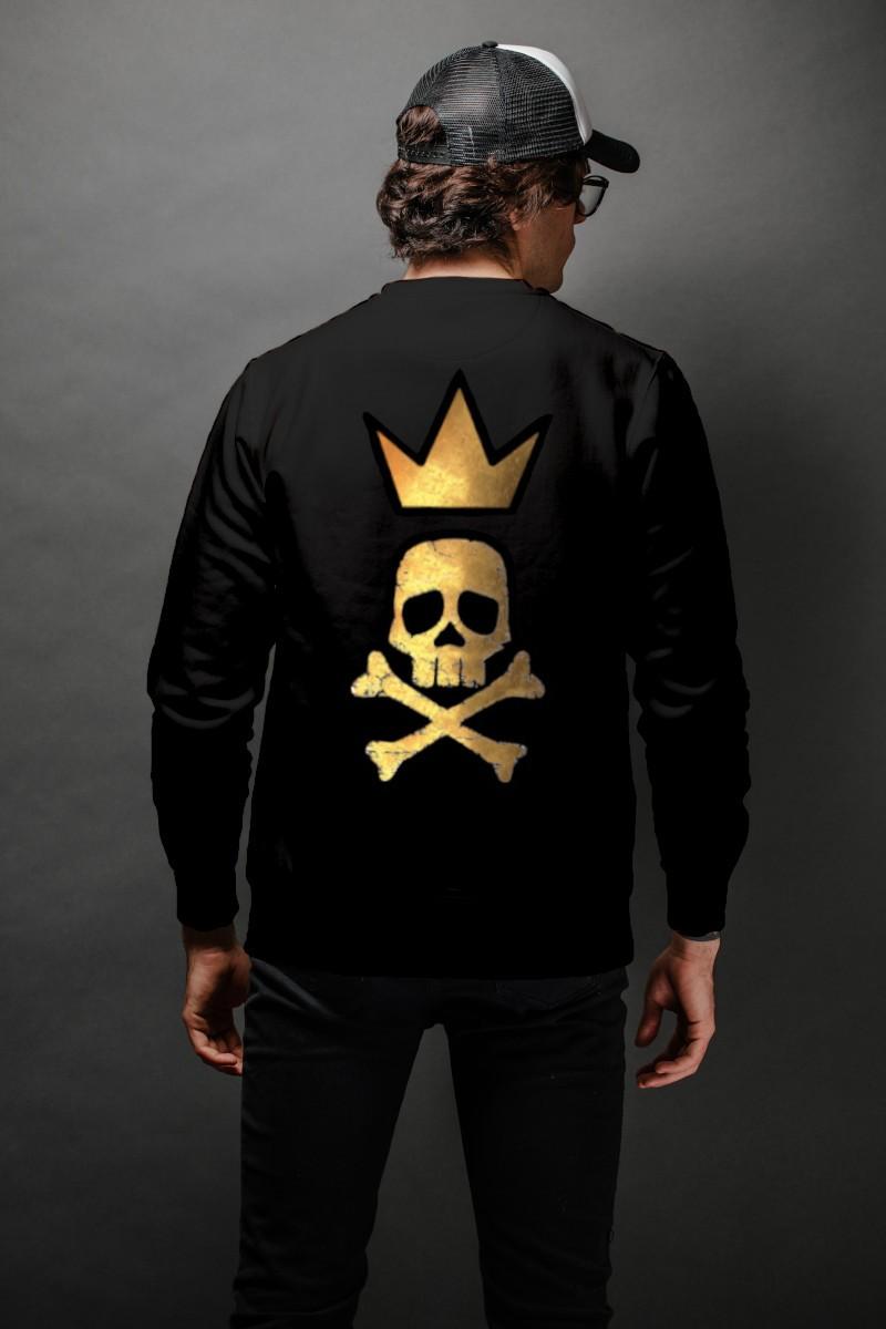 Sudadera de hombre KING negra