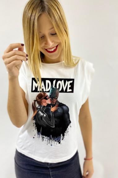 Camiseta de mujer MAD LOVE blanca