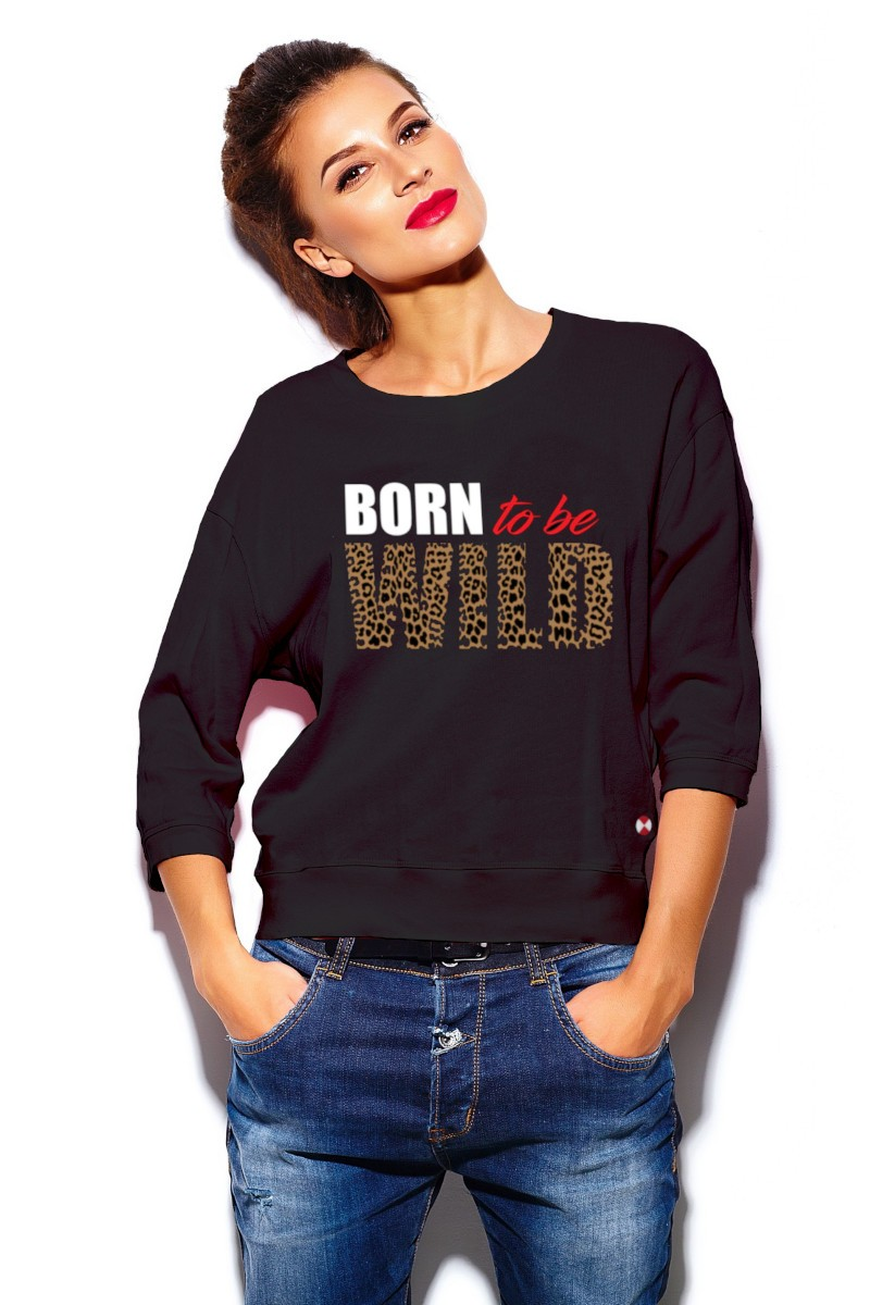 Sudadera de mujer BORN negra