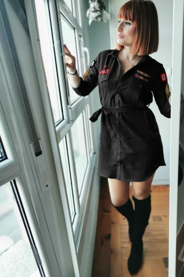 Vestido de mujer AIRBORNE negro