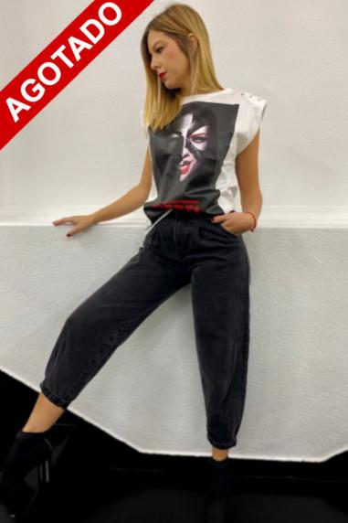 Camiseta de mujer  hombreras Catwoman...