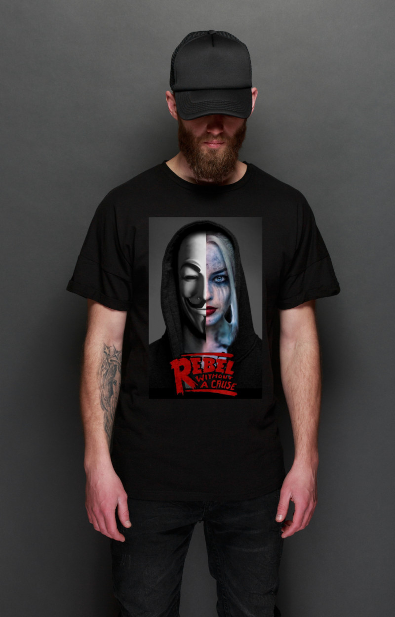 Camiseta Rebels Harley negra