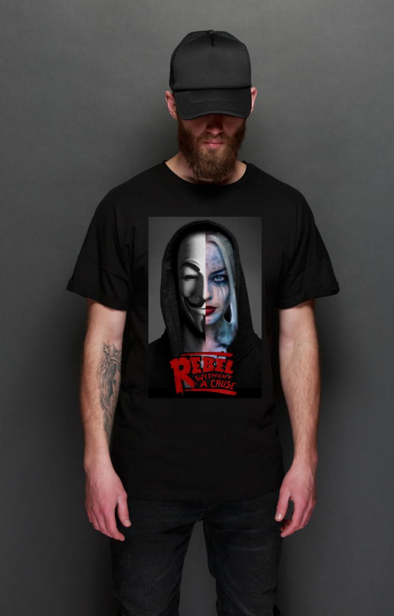 Camiseta Rebels Harley negra